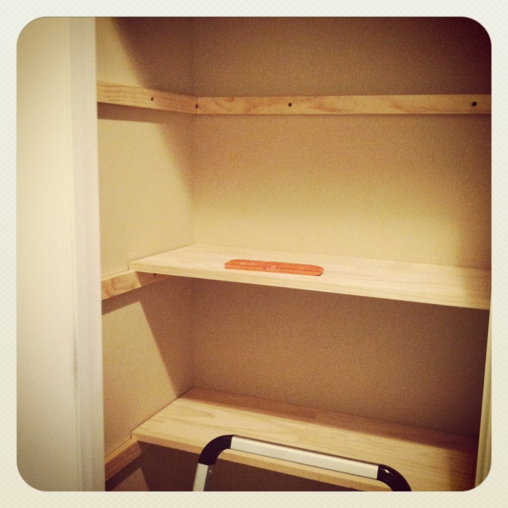 bare shelf